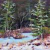 Winter Solitude pastel painting