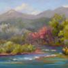 Along there Animas pastel painting