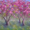 Spring's Invitation pastel painting