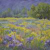 Saffron and Amethyst Field, The Animas Valley Pastel painting
