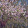 Spring in the Orchard Pastel painting