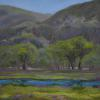 Verdant Fields James Ranch Pastel painting
