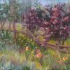 Wooded Path Pastel painting